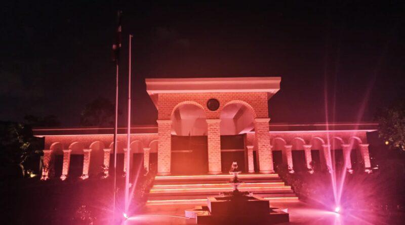 La Embajada de la República Dominicana instaló iluminación especial en honor a Octubre Rosa